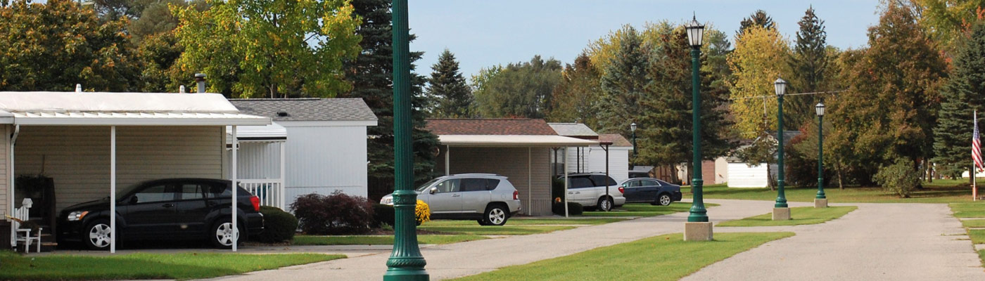Street view of our Caro Michigan manufactured home community